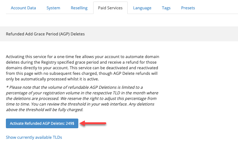 Button Activate Refunded AGP Deletes II