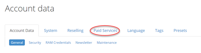 Paid Services II